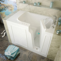 MediTub 2952RWH Walk-In 29 x 52 Right Drain White Whirlpool Jetted Bathtub
