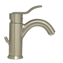 Whitehaus 3-04012 Single Hole Deck Mount Lever Galleryhaus Bathroom Faucet - Brushed Nickel