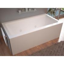 MediTub 3060SHWL Atlantis Soho Front Skirted Whirlpool Tub With Left Drain