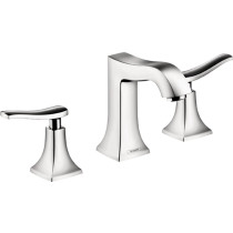 hansgrohe 31073001 Metris C Widespread Lever Handles Faucet in Chrome
