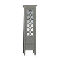 Laviva 313MKSH-SCG Mediterraneo Sidecab Collection Side Cabinet In Grey