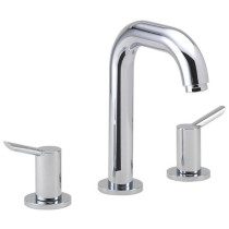hansgrohe 31730001 Focus S Chrome Widespread Faucet with Lever Handles