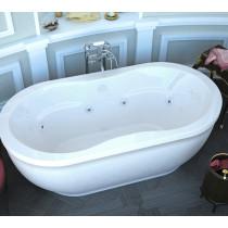 MediTub 3471AW Atlantis Embrace Freestanding Whirlpool Tub With Left Pump