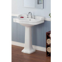 Cheviot 350-22-WH Antique Single Bowl Pedestal Lavatory Sink in White