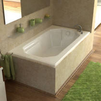 MediTub 3660MAL Atlantis Mirage Rectangular Air Jet Tub With Left Drain