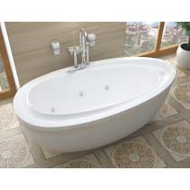MediTub 3871BW Atlantis Breeze Oval Whirlpool Bathtub With Reversible Drain