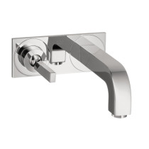AXOR 39115001 Wall Mounted Single Handle Faucet With Baseplate in Chrome