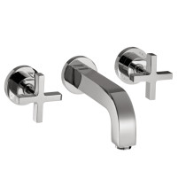 AXOR 39143001 Citterio Wall Mounted Faucet with Cross Handle in Chrome