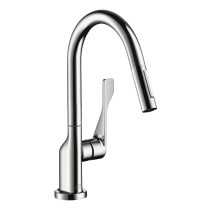AXOR 39836001 Prep Single-Handle Pull-Down Sprayer Kitchen Faucet in Chrome