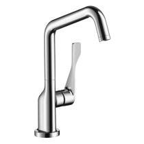 AXOR 39850001 Citterio Chrome Deck Mounted Kitchen Faucet with Swivel Spout
