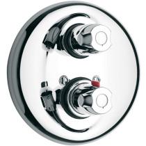 Polished Chrome LaToscana 3TCR690 Anti Scald Button Thermostatic Valve