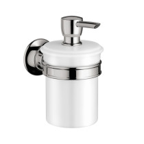 AXOR 42019000 AX Montreux Soap Dispenser Porcelain Wall Mount in Chrome