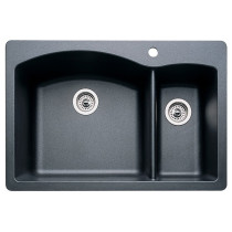 Blanco 440199 Diamond Single Hole SILGRANIT Drop In Kitchen Sink in Anthracite