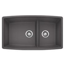 Blanco 441474 Performa™ Medium Undermount Double Bowl Granite Kitchen Sink in Cinder