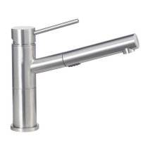 Blanco 441486 Alta Compact Kitchen Faucet with Pull-Out Dual Spray in Satin Nickel