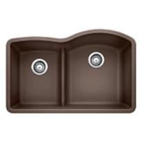 Blanco 441609 Diamond 1 3/4 Low Divide Undermount Reverse Kitchen Sink in Cafe Brown