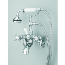 Cheviot 5100 Cross Handles Bathtub Filler for Tub or Wall Mount Application
