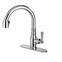 Latoscana US..591ANT Old Fashioned Single Handle Pull-Down Spray Kitchen Faucet