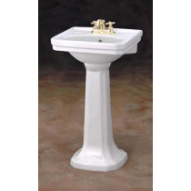 Cheviot 511-20-WH Small Mayfair Pedestal Bathroom Sink in White