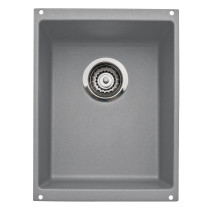 Blanco 513425 Precis Medium Rectangular Single Bowl Undermount Kitchen Sink in Metallic Gray