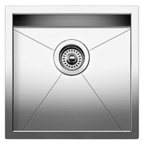 Blanco 518168 Quatrus Stainless Steel R0 Bar Single Bowl Kitchen Sink in Satin