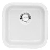 Blanco 518542 Cerana Fireclay Single Bowl Undermount Kitchen Sink in White