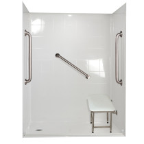 Ella's Bubbles 6033 BF 5P 1.0 L-WH SP24 Standard Plus Roll In Shower System