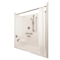 Ella's Bubbles 6033 BF 5P 1.0 R-WH ELB Elite Brilliant Roll In Shower System