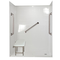 Ella's Bubbles 6033 BF 5P 1.0 R-WH SP24 Standard Plus Roll In Shower System