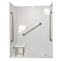 Ella's Bubbles 6033 BF 5P 1.0 R-WH SP36 Standard Plus Roll In Shower System