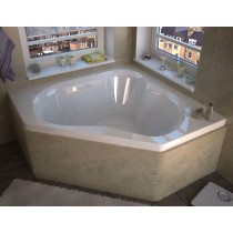 MediTub 6060CDR Atlantis Cascade Air & Whirlpool Jet Tub With Right Pump