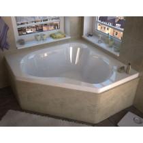 MediTub 6060CWL Atlantis Cascade Whirlpool Jetted Bathtub With Left Pump
