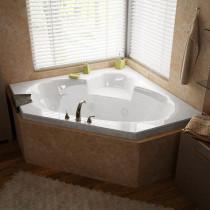 MediTub 6060SDR Atlantis Sublime Corner Air & Whirlpool Tub With Right Pump
