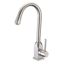 Cadell 70100 Single Handle Kitchen Faucet in Brushed Stainless Steel