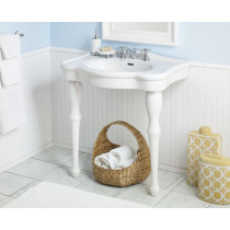 Cheviot 707-WH Windsor Modern Design White Porcelain Console Sink