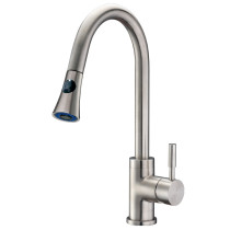 Cadell 71300 Brushed Stainless Steel Kitchen Faucet with Pull-Down Spray