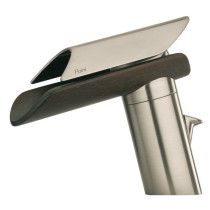 Brushed Nickel/Wenge Spout LaToscana 73PW211LZ Single Control Bath Faucet