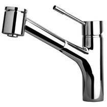 Latoscana 78CR576 Single Hole Kitchen Faucet With Double Function Pull Out Spray - Chrome