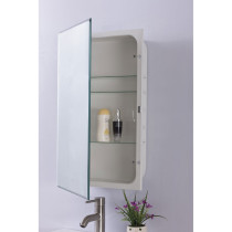 Bellaterra Home 808282 Mirrored Medicine Cabinet With Glass Shelves