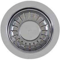 Franke 906CH Brass 3 1/2 Inch Kitchen Accessories Drain Basket Strainer in Chrome