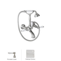 Rohl A1401LPAPC Country Bath Exposed Tub Set Shower Mixer In Polished Chrome