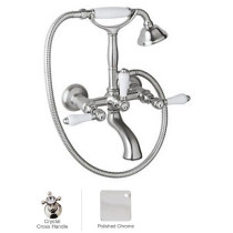 Rohl A1401XMAPC Country Bath Exposed Tub Set Shower Mixer In Polished Chrome