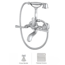 Rohl A1901LMAPC Palladian Exposed Tub Set With Handshower In Polished Chrome