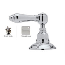 Rohl A2716XCAPC Country Bath Crystal Cross Handle 2-Direction Diverter in Polished Chrome