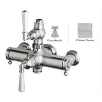 Rohl A4817XM Palladian Cross-Handle Wall Mount Exposed Thermostatic Mixer in Polished Chrome