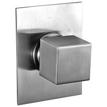 ALFI brand AB9209-BN Brushed Nickel Modern Square 3 Way Shower Diverter