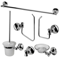 ALFI brand AB9521-PC Polished Chrome 6 Piece Matching Bathroom Accessory Set
