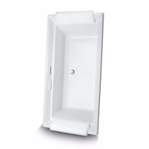 TOTO ABR626S#01D Aimes Acrylic Drop In Air Bathtub With Drain And Right Blower