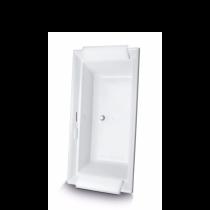TOTO ABR626T#01D Aimes Acrylic Left Blower Air Bathtub With Rear Drain