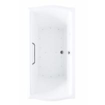 TOTO ABR781T#01Y Cotton Rectangular Acrylic Air Bathtub With Left Blower